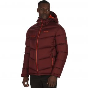 Men's Nevado Super Heavyweight Insulated Hooded Jacket Spiced Mulberry