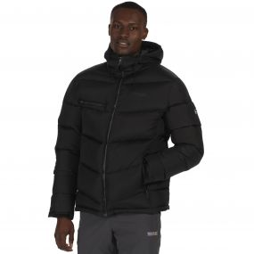 Men's Nevado Super Heavyweight Insulated Hooded Jacket Black