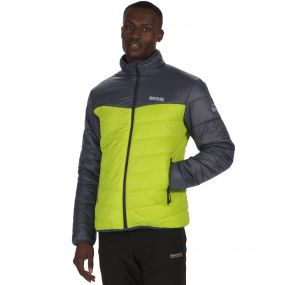 Men's Icebound III Mid Weight Insulated Jacket Seal Grey Lime Green