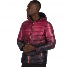 Men's Azuma Heavyweight Insulated Hooded Jacket Spiced Mulberry