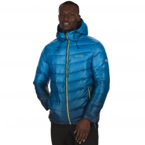 Men's Azuma Heavyweight Insulated Hooded Jacket Majolica Blue