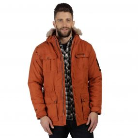 Saltoro Breathable Waterproof Insulated Parka Jacket Rust