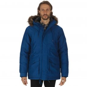 Alarik Waterproof Heavyweight Parka Jacket Prussian Blue