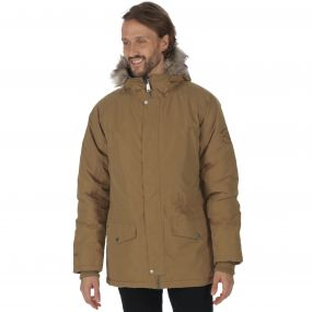 Salton Waterproof Insulated Parka Jacket Dark Camel