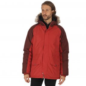 Salton Waterproof Insulated Parka Jacket Burnt Tikka