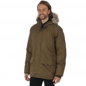 Salton Waterproof Insulated Parka Jacket Camo Green