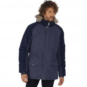 Salton Waterproof Insulated Parka Jacket Quarry Blue