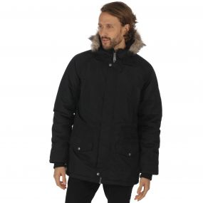 Salton Waterproof Insulated Parka Jacket Black