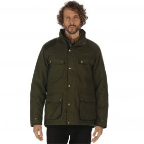 Ellsworth Waterproof Wool Effect 4 Pocket Jacket Dark Khaki