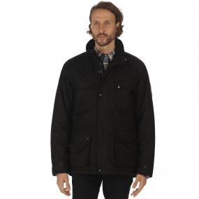 Ellsworth Breathable Waterproof Wool Effect Insulated 4 Pocket Jacket Black