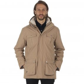 Penley Waterproof Insulated Parka Jacket Dark Camel