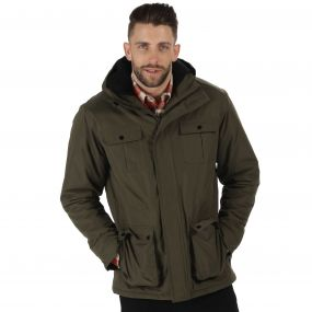Penley Waterproof Insulated Parka Jacket Dark Khaki