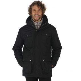 Penley Waterproof Insulated Parka Jacket Black