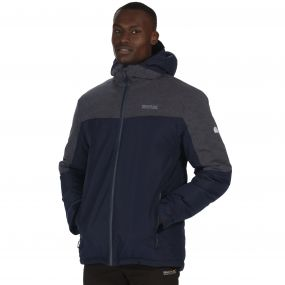 Garforth Breathable Waterproof Insulated Jacket Navy Seal Grey Reflective