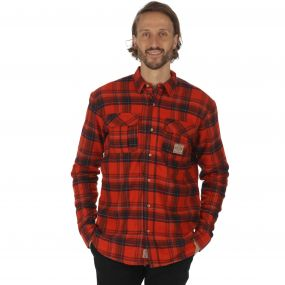 Tyrus Long Sleeved Fleece Shirt Tuscan Red
