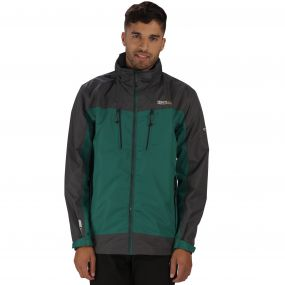 Calderdale II Breathable Waterproof Shell Jacket Hunter Green Seal Grey