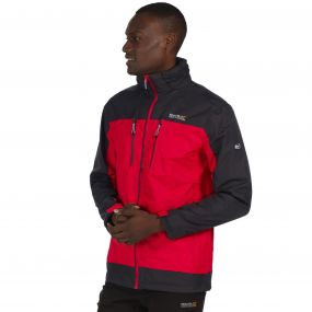 Calderdale II Breathable Waterproof Shell Jacket Pepper Red Ash