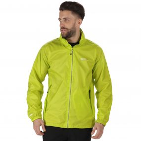 Lyle III Waterproof Shell Jacket with Concealed Hood Lime Zest