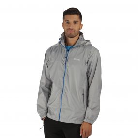 Lyle III Waterproof Shell Jacket with Concealed Hood Light Steel