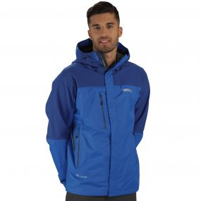Men's Cross Penine III Hybrid Waterproof Jacket Oxford Blue Surfspray
