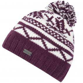 Sleet II Fair Isle Knit Bobble Hat Fig