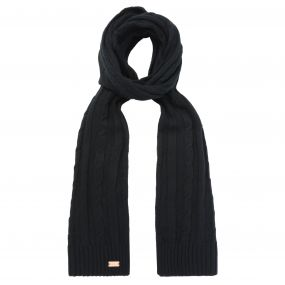 Multimix Cable Knit Scarf Black
