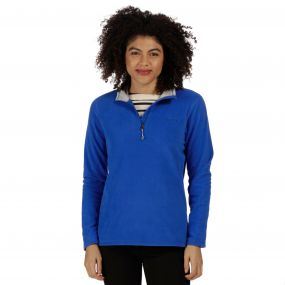 Sweethart Half Zip Lightweight Fleece Dazzling Blue Light Steel