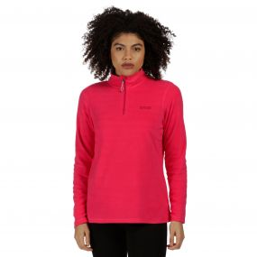 Sweethart Half Zip Lightweight Fleece Bright Blush Light Steel