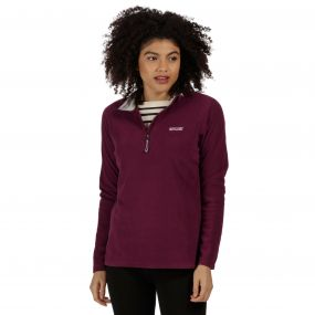 Sweethart Half Zip Lightweight Fleece Fig Light Steel