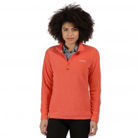 Sweethart Half Zip Lightweight Fleece Deep Sea Coral