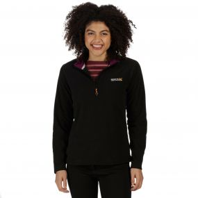 Sweethart Half Zip Lightweight Fleece Black Blackcurrant