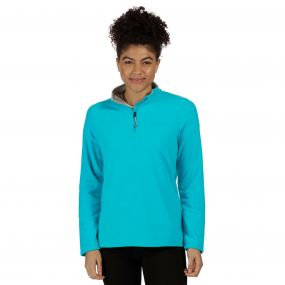 Sweethart Half Zip Lightweight Fleece Aqua Light Steel