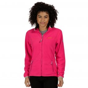 Floreo II Mid Weight Full Zip Fleece Bright Blush