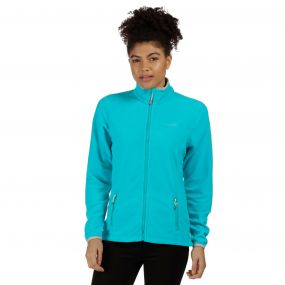 Floreo II Mid Weight Full Zip Fleece Aqua