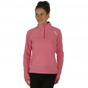 Women's Montes Half Zip Lightweight Mini Stripe Fleece Cabaret