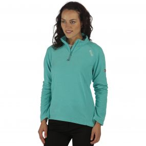 Women's Montes Half Zip Lightweight Mini Stripe Fleece Atlantis