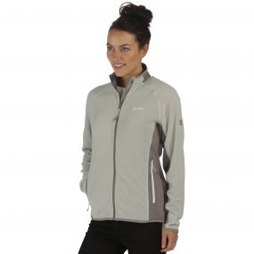 Jomor Lightweight Full Zip Fleece Light Steel Rock Grey