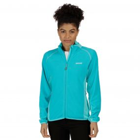 Jomor Lightweight Full Zip Fleece Aqua Horizon