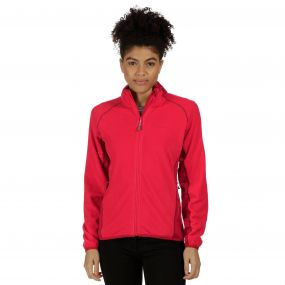 Jomor Lightweight Full Zip Fleece Scarlet Punch
