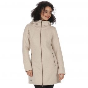 Radella II Long Length Knit Effect Bonded Fleece Warm Beige