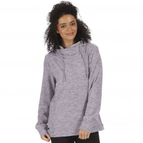 Kizmit II Marl Fleece Oversized Hood Rock Grey Light Steel