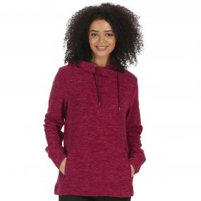 Kizmit II Marl Fleece Oversized Hood Fig Rose Blush