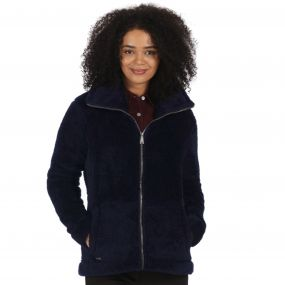 Halsey Fluffy Full Zip Fleece Navy