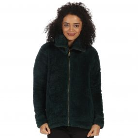 Halsey Fluffy Full Zip Fleece Deep Pine