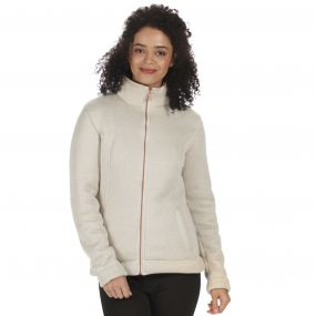 Raneisha Knit Effect Bonded Fleece Light Vanilla