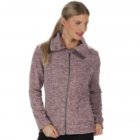 Zalina Full Zip Marl Fleece Coconut