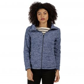 Zalina Full Zip Marl Fleece Navy