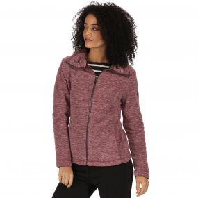 Zalina Full Zip Marl Fleece Fig