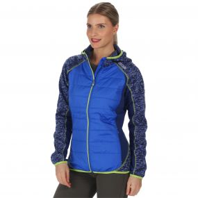 Women's Pendan Hybrid Stretch Fleece Dazzling Blue Twilight