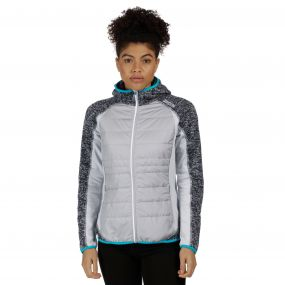 Women's Pendan Hybrid Stretch Fleece Light Steel